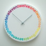 Beautiful helvetica clock