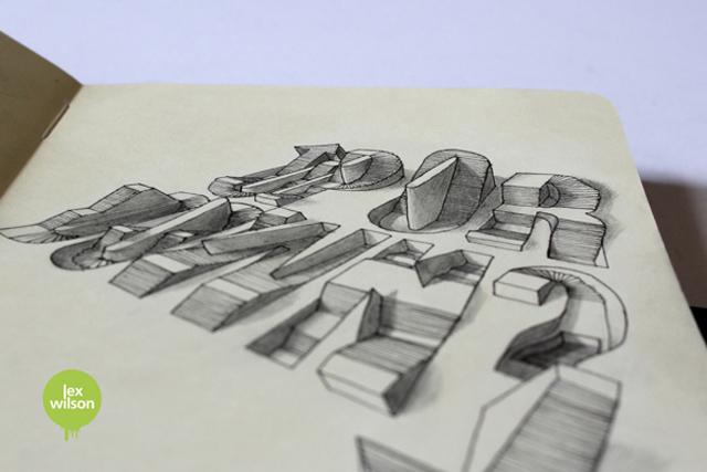 3D Typography – Lex Wilson